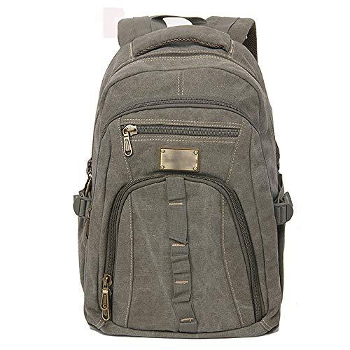 35L Hommes Casual Canvas Zipper rucksac Voyage Randonnée Sac à dos pour ordinateur portable