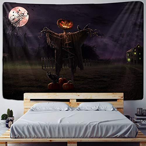 JXWR Halloween decoración del hogar Tapiz Mandala Tela de Pared colchón de Viaje Hippie brujería decoración Bohemia 150x130 cm