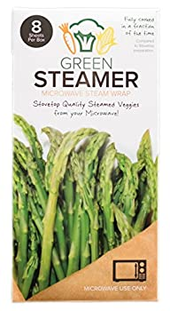 Green Steamer Microwave Steam Wrap Stovetop Quality Steamed Vegetables From Your Microwave Made From Food Safe Biodegradable Recyclable Paper From Sustainable Forests 8 Sheets Per Box  Set of 1
