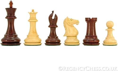 cómodo The Regency Chess Company Centinela Centinela Centinela Serie rojo Sándalo Staunton Ajedrez Piezas 10.2cm  increíbles descuentos
