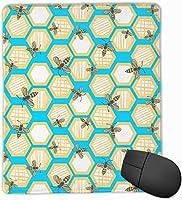 マウスパッド 蜂蜜 蜜蜂 ミツバチ かわいい おしゃれ 高耐久性 滑り止め 防水 PC ラップトップ 水洗い レーザー 光学式 25*30cm