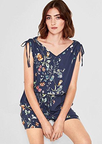 s.Oliver Damen Jumpsuit mit Blumen-Muster, Blau - 7