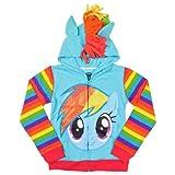 My Little Pony Rainbow Dash Blue Girls Costume Hoodie Sweatshirt (Girls 6X/Large)
