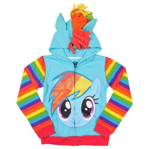 My Little Pony Little Girls Zip-up Hoodie, Rainbow Dash, Medium (5/6)