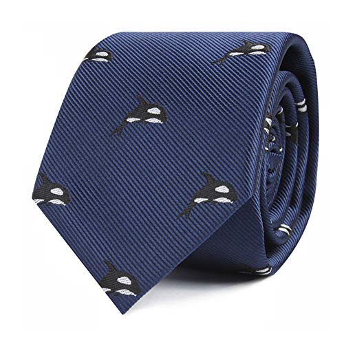 Woven Orca Whale Tie