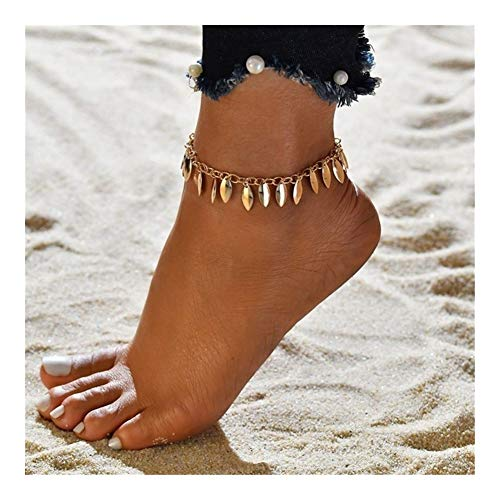 WENAN Anklet Joyería de Playa for el Tobillo Pulsera de Las Mujeres de Verano Tobillera En La Pierna Pulgar (Color : 50204)