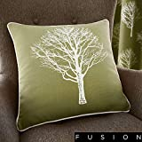 Fusion Woodland Trees – Kissenbezug, 100% Baumwolle, grün, Cushion Cover: 43 x 43cm