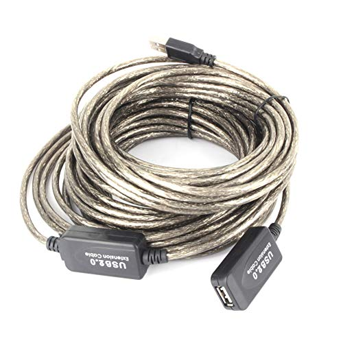 15 M Lange Reaching USB Actieve Repeater, USB 2.0 Type A Mannelijke naar Vrouwelijke Verlengkabel kabel draad Zwart