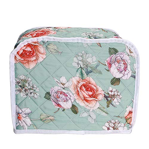 2 Slice Toaster Cover,Bread Maker Protective Cover Bag,Bread Toaster Oven Cover, Kitchen Small Appliance Organizer Bag Cover,Kitchen Machine Protector Cover For Woman Gift (Floral#2)