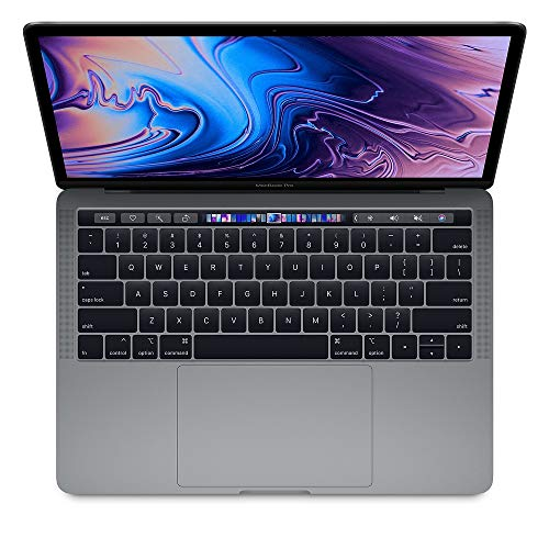Apple 13.3' MacBook Pro w/Touch Bar (Mid 2019), Intel Core i5-8279U 2.4GHz, 256GB PCI-E SSD, 8GB DDR3, 802.11ac, Space Gray (Renewed)