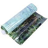 URRNDD Etiqueta engomada del Tanque de Peces Decoración Pintura Temas fascinantes PVC Plantas de Agua Etiqueta de Fondo