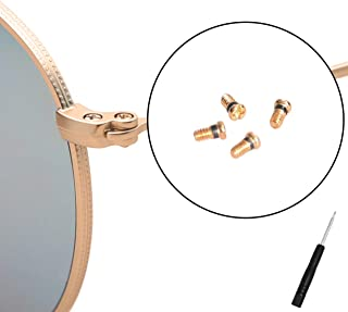 CEYDEY Replacement Gold Screws for Ray-Ban Aviator RB3025 3025 Sunglasses Repair Kit (Set of 4),Bonus Screwdriver