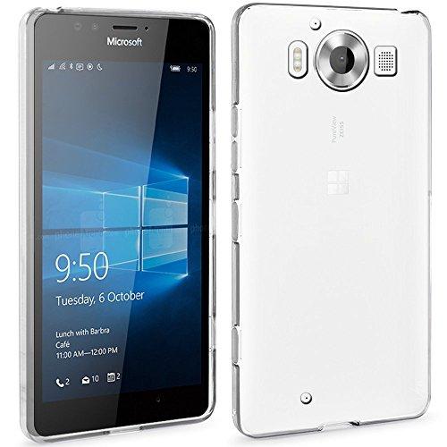 ivoler Hülle Hülle Kompatibel für Microsoft Lumia 950, Premium Transparent Klare Tasche Schutzhülle Weiche TPU Silikon Gel Handyhülle Schmaler Cover
