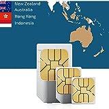 El Sudeste de Asia y Oceanía 3GB Prepaid datos SIM tarjeta con 3GB Internet móvil para 30días