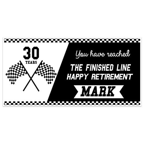 Reached Finish Line Retirement Personalized Banner