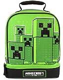 Minecraft Kids Lunchbox Creeper Compartimento con cremallera Green Lunch bag