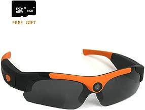 FTON HD 1080P Eyewear Sunglasses Camera Recording DVR Glasses Camcorder+Free 8G Micro SD Card Orange