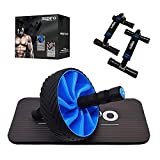 Redipo Ab Roller Wheel for Abs Core Workout - Ab Wheel Roller with Knee Mat and Push Up Bars - Perfect Home Gym Equipment for Men Women Abdominal Exercise
