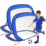 Punvot Portería de Fútbol Pop Up para Niños y Adultos, Portería de Fútbol Pequeña, Juguete Interactivo, Fácil Plegable, Ideal para Jardín Playa Patio Trasero Césped Chico Juegos de Futbol