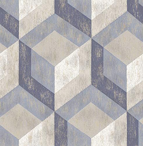 BHF sz001859/Kismet Wander turquesa gris papel pintado