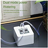 Laecabv Automatic Drip Irrigation Kit Automatic Self Watering System Watering Can Indoor Sprinkler with 30-Day Timer and USB Charging-25 Potted Plants (White)