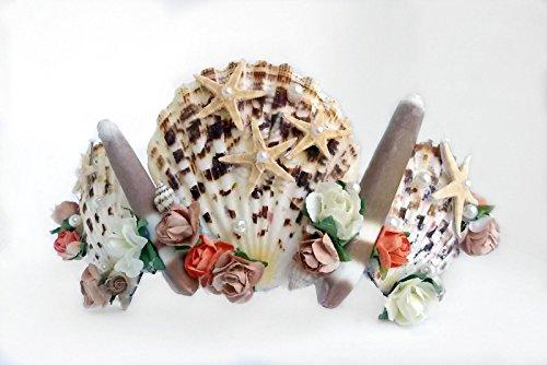 Seashell krone, Strandhochzeit Haar-Zusätze, Halloween-Kostüm, Seashell sirene,