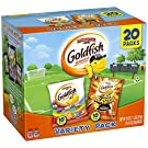 Pepperidge Farm Goldfish Colors Cheddar and Flavor Blasted Xtra Cheddar Crackers, 18 oz. Variety Pack Box, 20 Count 0.9 oz. Single-Serve Snack Packs