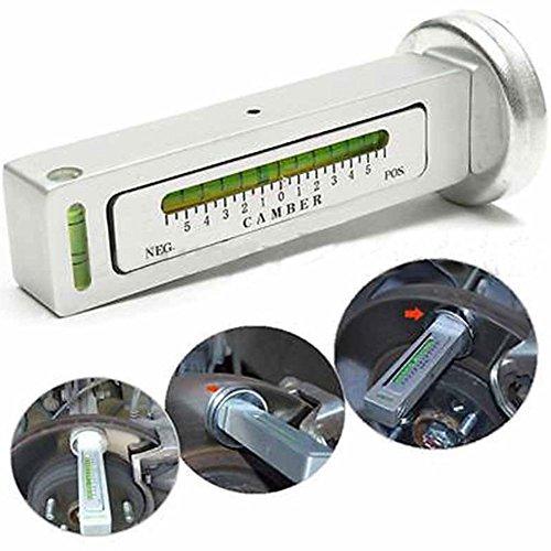 EMVANV Alineación de cuatro ruedas Indicador de nivel magnético Ajuste de Camber Ayuda a Posicionamiento del Imán para la alineación de la rueda del puntal del echador del coche (Blanco)