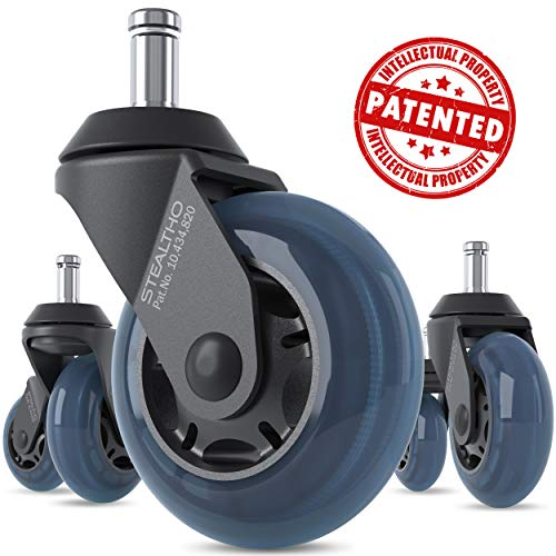 STEALTHO Replacement Office Chair Caster Wheels Set of 5 -...