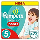 Pampers - Baby Dry Pants - Couches-Culottes Taille 5 (11-18 kg) - Mega Pack (x72...