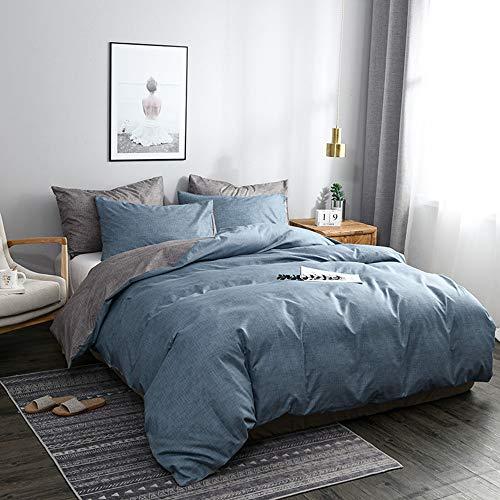 Juego de ropa de cama N/C reversible rosa y gris, 135 x 200 cm, de microfibra, 2 piezas y 1 funda de almohada de 80 x 80 cm