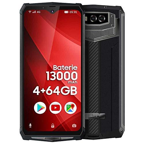 iHunt Titan P13000 Pro | Dual Sim | 4G | Riesiger Akku mit 13000 mAh mit Super-Schnellladung, IP68 Werk entsperrt, 6,3 Zoll FullHD + IPS, 64 + 4 GB, Android 9, Schwarz