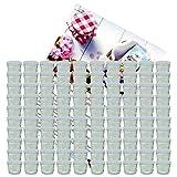 MamboCat 100er Set Sturzglas 230 ml Marmeladenglas Einmachglas Einweckglas to 82 weißer Deckel...