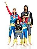 DC Comics Little Boys' DC Comics Family Cosplay Union Suit, Gray, 6