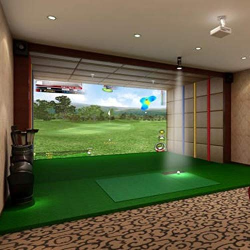 TheTerakart Indoor Golf Simulator Impact Screen for Home Beginners Series Large Projection Screen for Golf Training (300 x 300 cm (120' x 120'))