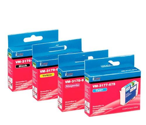 iColor Workforce Wf 2010w, Epson: ColorPack für EPSON (ersetzt T1636 / 16XL), BK/C/M/Y (Alternative Druckerpatronen Epson)