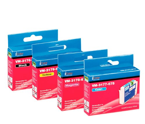 iColor Tinte für Drucker: ColorPack für EPSON (ersetzt T1636 / 16XL), BK/C/M/Y