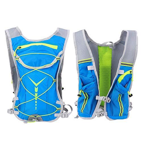 Pwshymi Mochila de Agua con Sistema de hidratación Mochila de hidratación Mochila de hidratación Profesional Duradera para Escalada Senderismo para Correr al Aire Libre(Blue-Green)