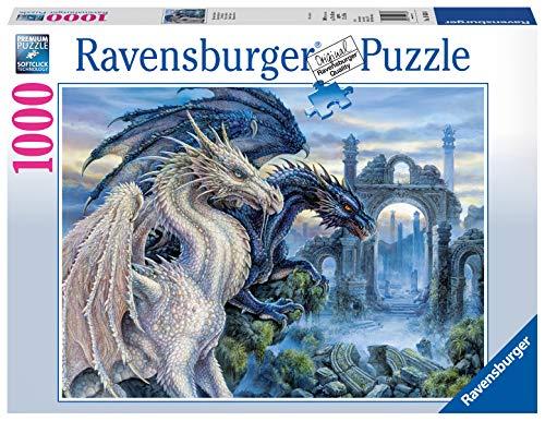 Ravensburger Puzzle, Puzzles 1000 Piezas, Dragones Místicos, Colección Fantasy, Puzzles para Adultos, Puzzle Ravensburger