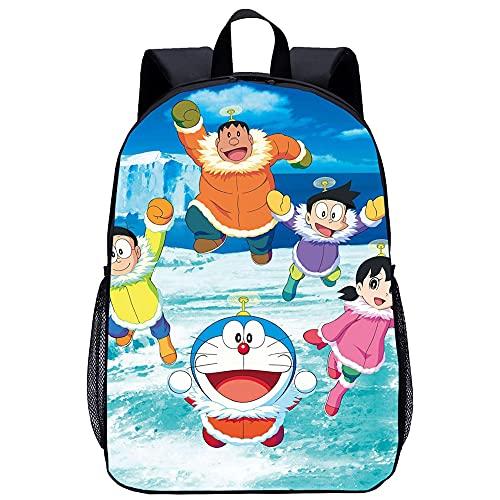 YIPUFENGS Mochila para niños, Mochila con patrón de Doraemon en 3D, 13 Pulgadas Adecuada para niños de 3 a 7 años (13 * 4.7 * 9.4 Pulgadas)
