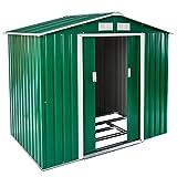 TecTake Cobertizo caseta de jardín metálica de Metal Invernadero almacén | + fundación Modelos (Tipo 1 | Verde | no. 402182)