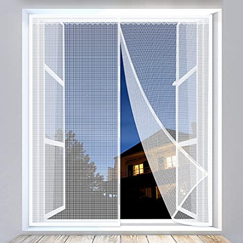 Yodeace Zanzariera Magnetica, 130x150cm Facile da Installare Chiusura Automatica Zanzariera Magnetica Finestra Anti Zanzare Insetti per Porte Finestre Balcone Soggiorno
