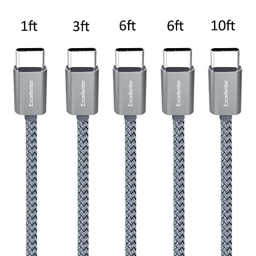 Google Pixel 4 3 2 XL USB C to USB C Fast Charging Cable 3-Pack Boxeroo USB Type C Charger Cord Compatible with Galaxy S20 S10 Note 20 10 1ft iPad Pro 2020
