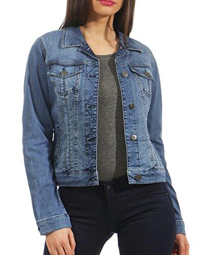 MUSTANG Damen Iconic DNM Jacket Jeansjacke, Blau (Super Stone 052), Large