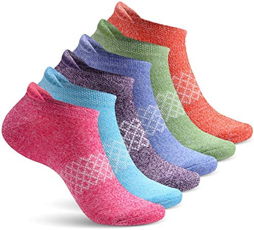 Womens Ankle Socks 6 Pairs Ladies No Show Athletic Socks Running Workout product image