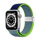 Netolo Solo Loop Kompatibel mit Apple Watch Armband 44mm 42mm 40mm 38mm 41mm 45mm, Dehnbarer Nylon...