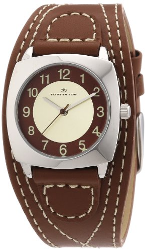 TOM TAILOR Damen-Armbanduhr XS Analog Quarz Leder 5409903
