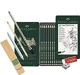 Faber-Castell 119065 - Lápices Castell 9000, 12 unidades, contenido 8B - 2H (grafito, surtido básico 8b - 2h)