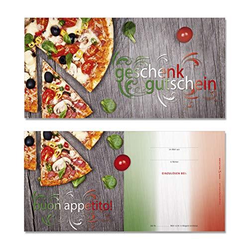 100 Stk. Hochwertige Gutscheinkarten Geschenkgutscheine DIN-lang. Gutscheine für Italienische Restaurants. Vorderseite hochglänzend. G92000