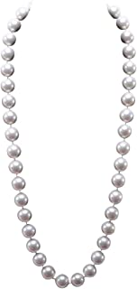 JYX Pearl Long Strand necklace12mm Round Seashell Pearl Necklace 28